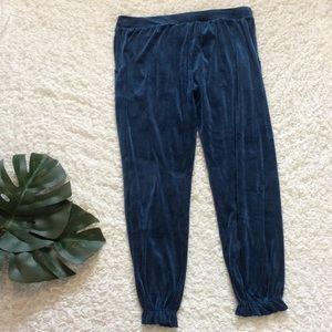 Gilligan & OMalley Blue Velvet Lounge Jogger Pants
